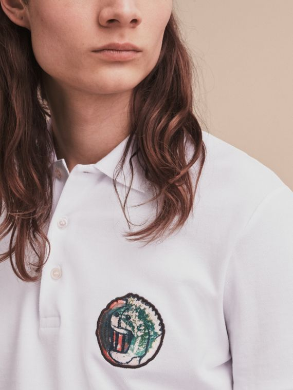 Pallas Heads Appliqué Cotton Polo Shirt