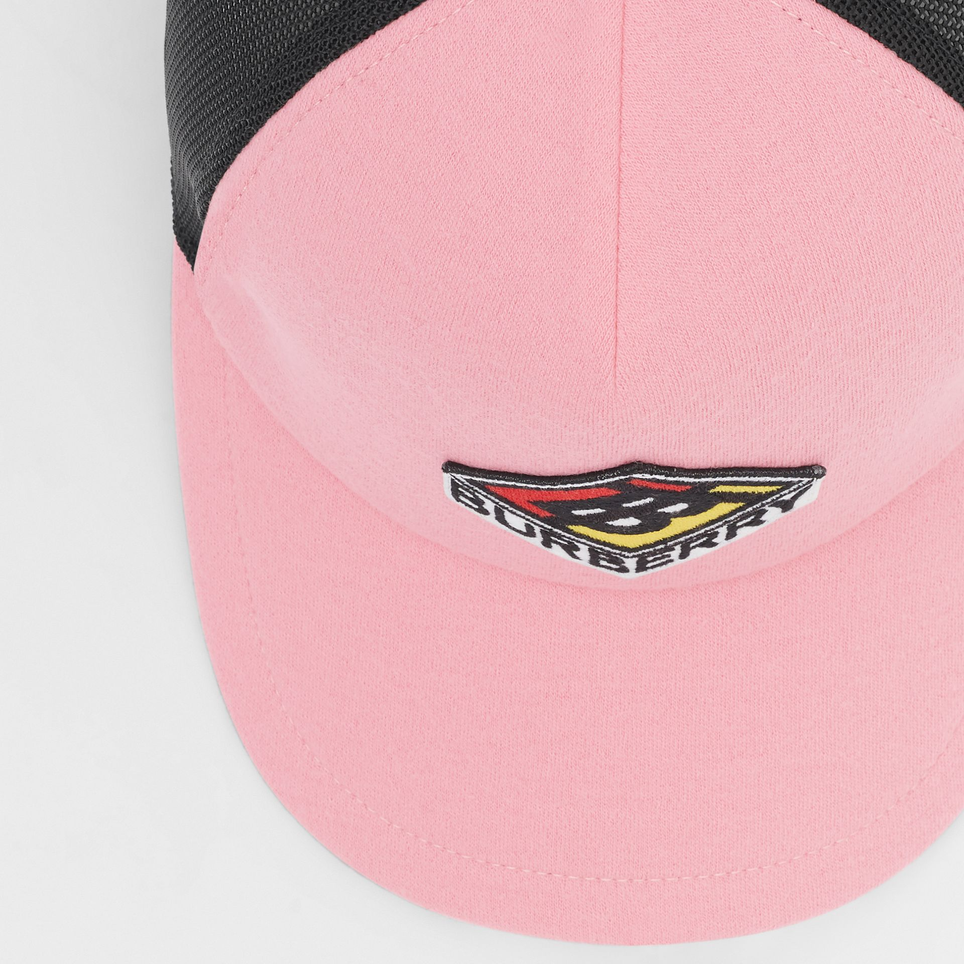 Logo Graphic Baseball Cap in Pink | Burberry Singapore - gallery image 1