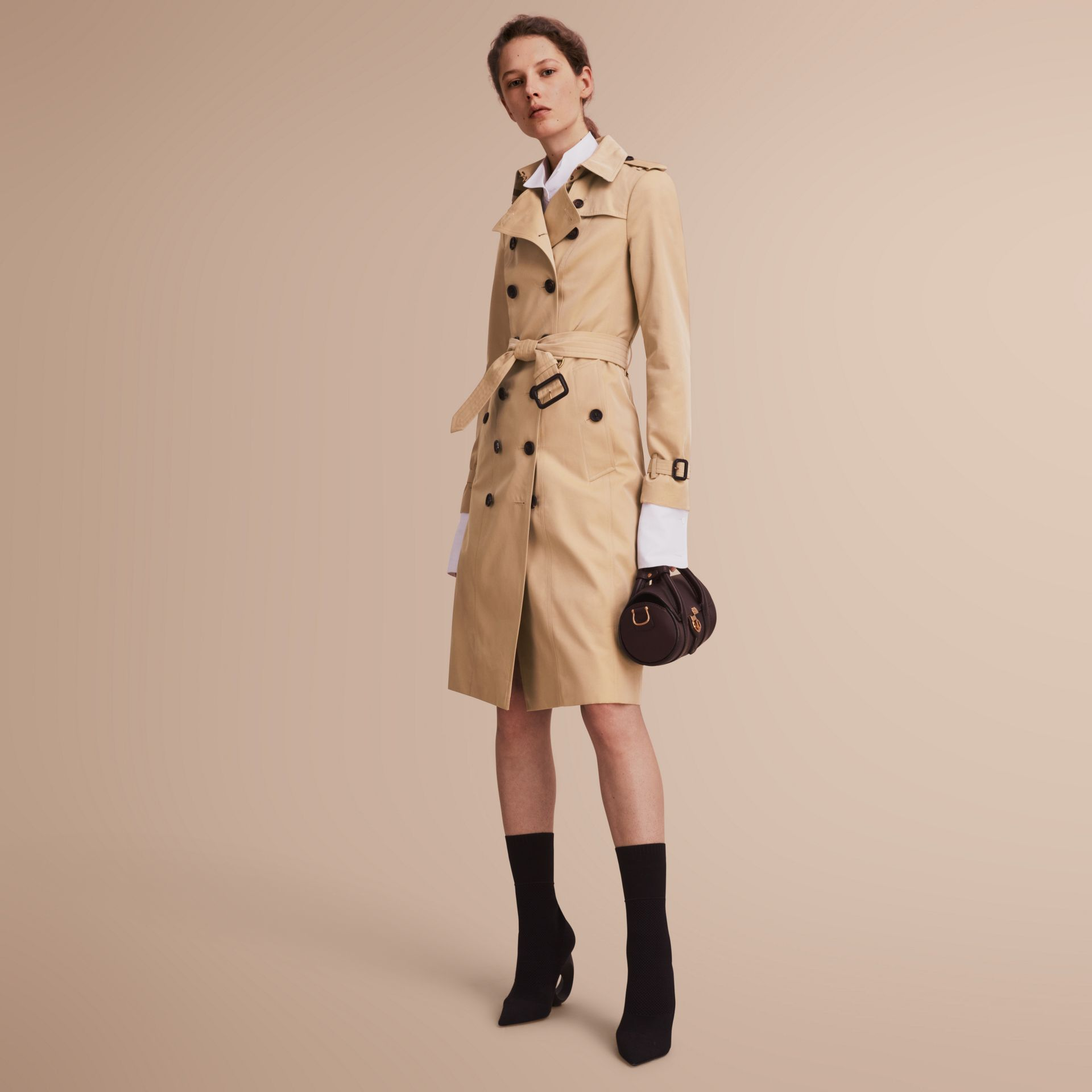 The Sandringham – Extra-long Heritage Trench Coat in Honey - gallery image 1