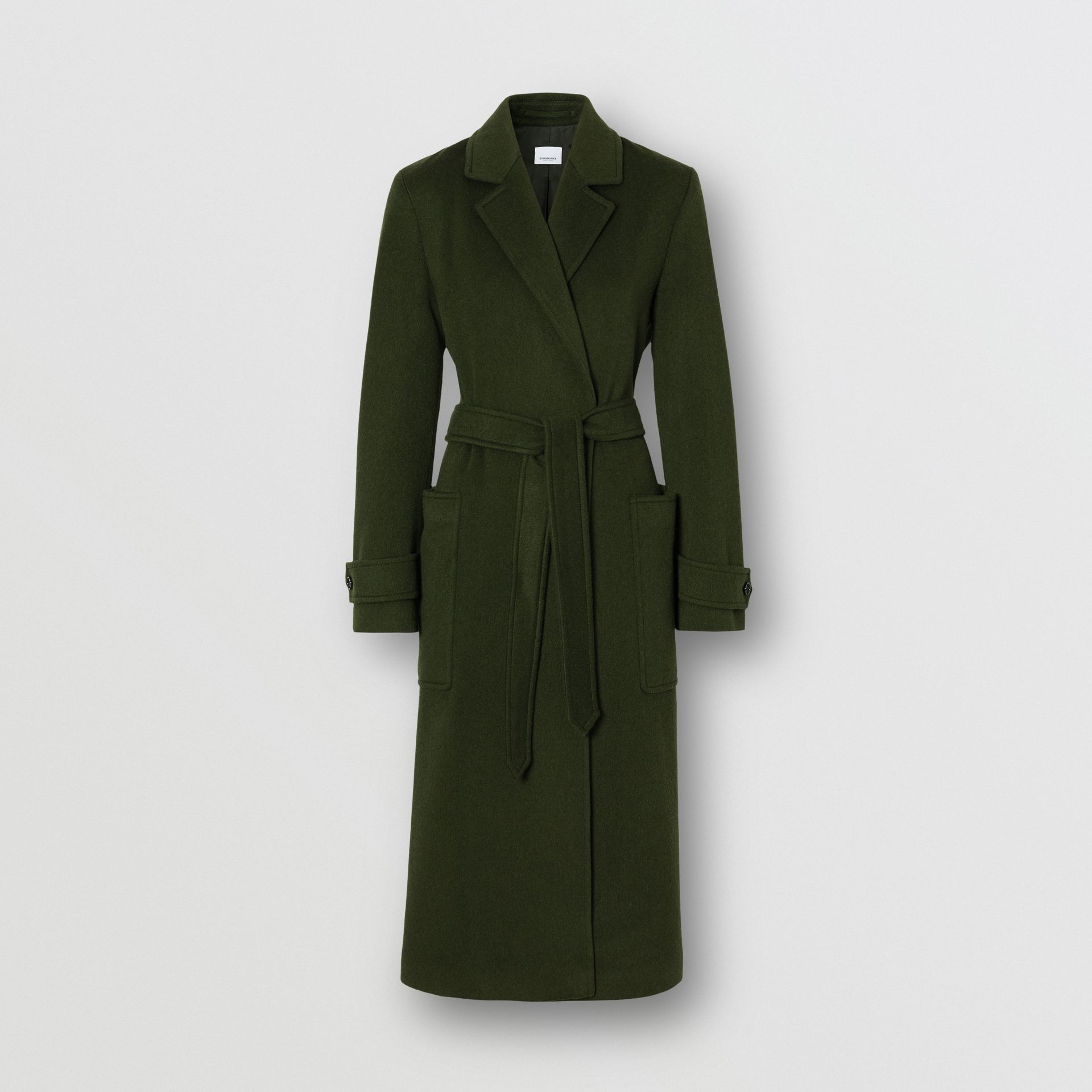 Cashmere Wrap Coat in Forest Green - Women | Burberry - gallery image 3