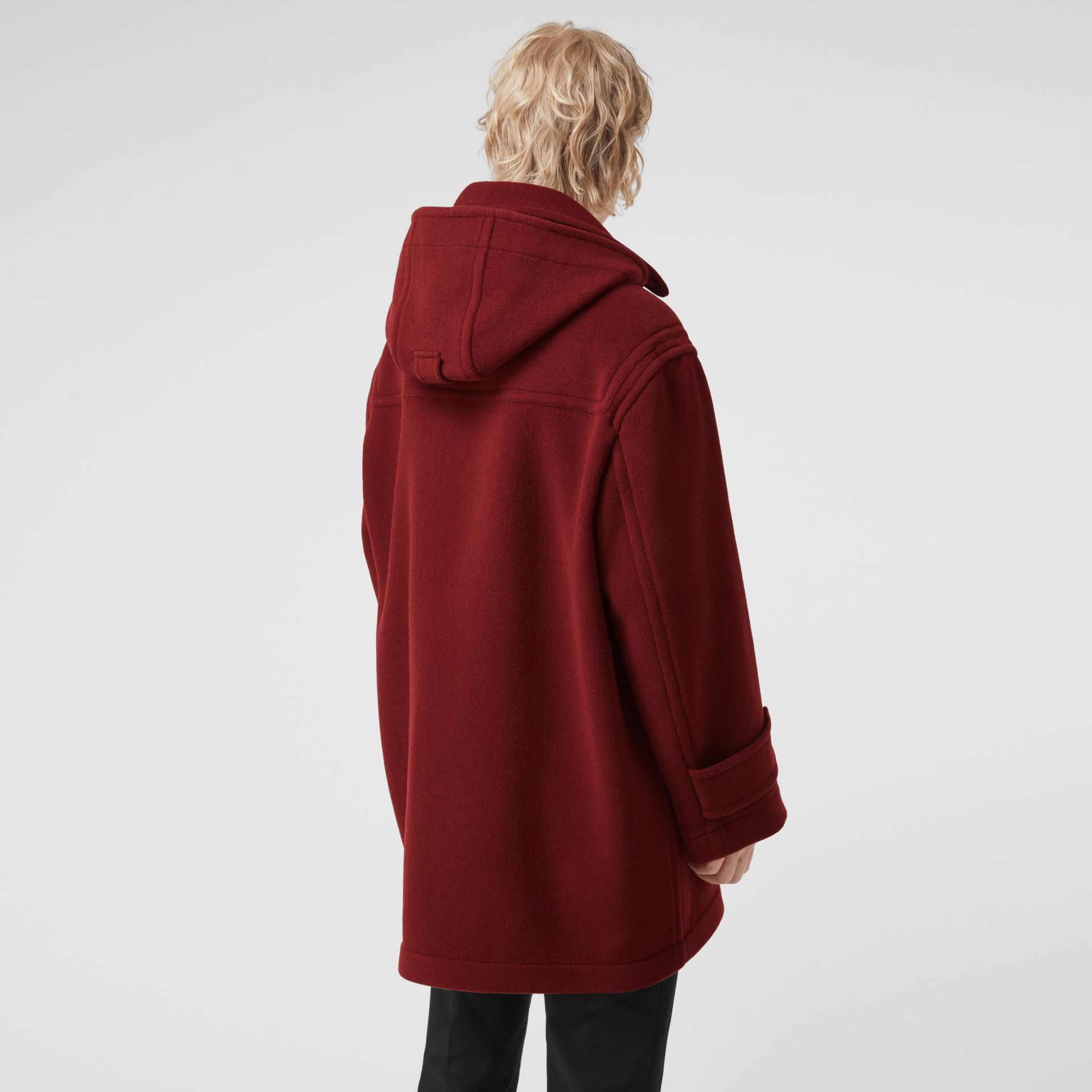 Gosha x Burberry Oversized Duffle Coat in Claret | Burberry - gallery image 5