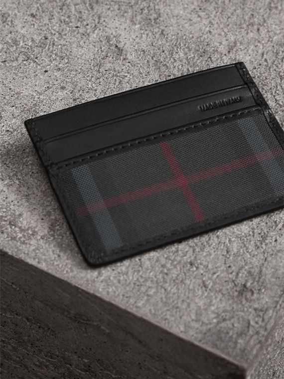 Horseferry Check Card Case in Charcoal/black - Men | Burberry Canada - cell image 2