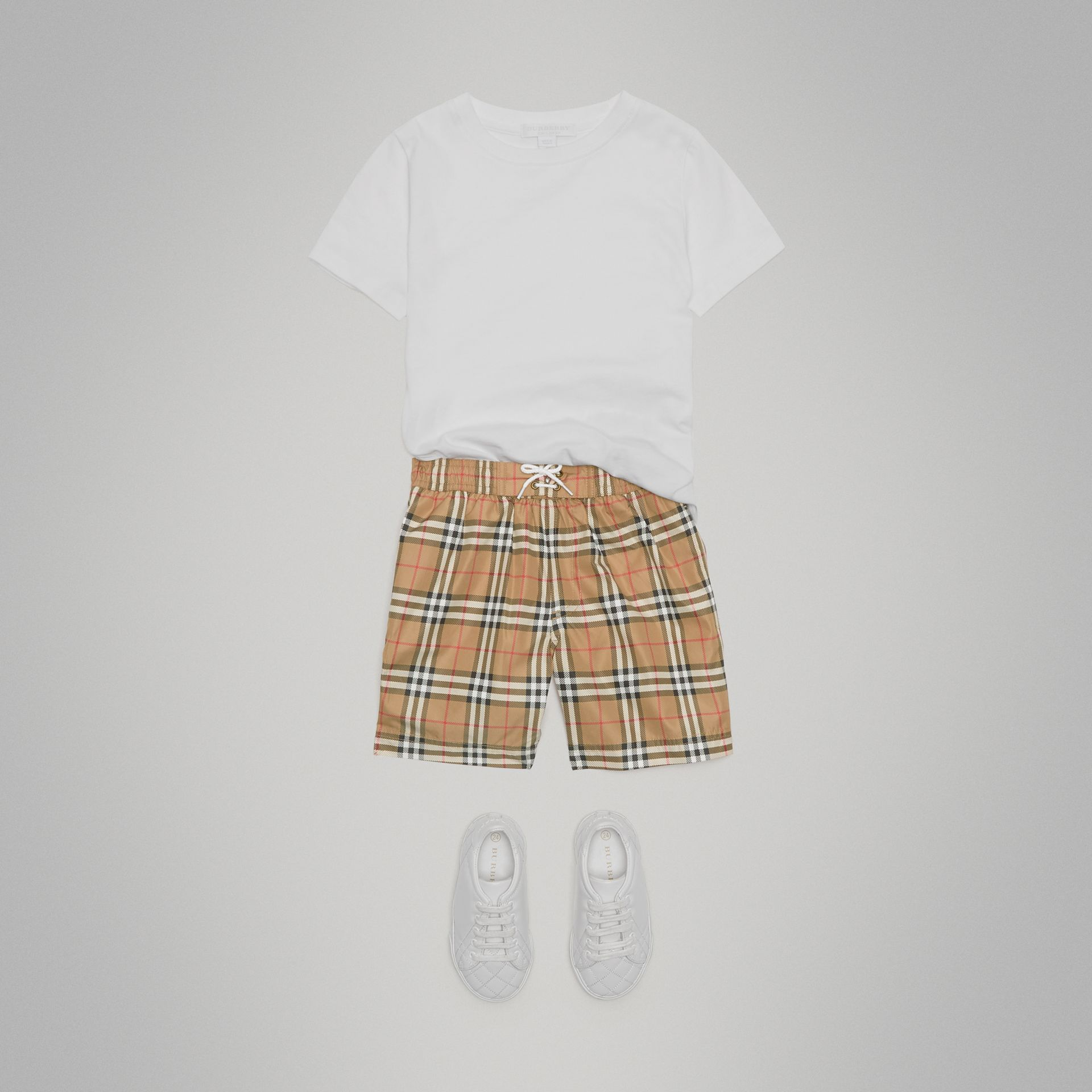 Vintage Check Swim Shorts in Camel | Burberry - gallery image 2