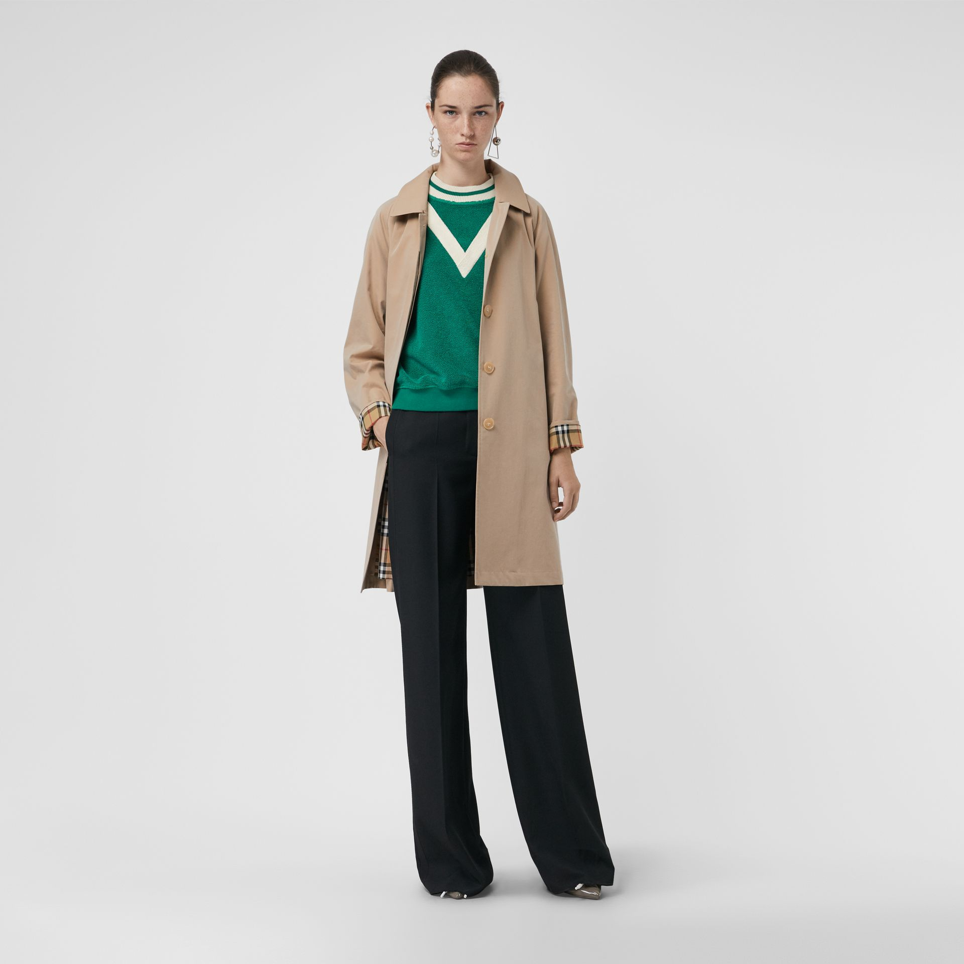The Camden Car Coat in Honey - Women | Burberry - gallery image 0