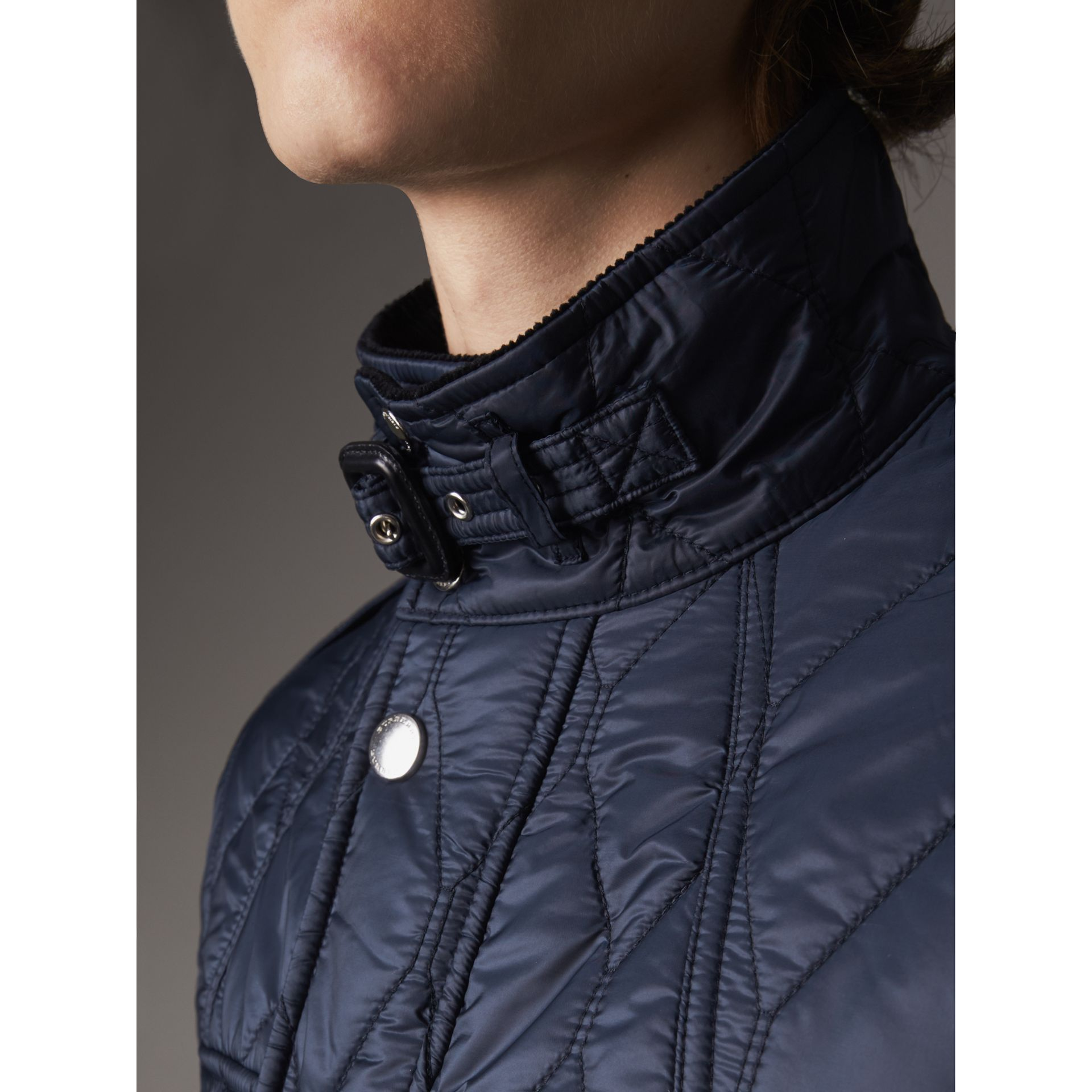 Diamond Quilted Field Jacket in Navy - Men | Burberry - gallery image 1