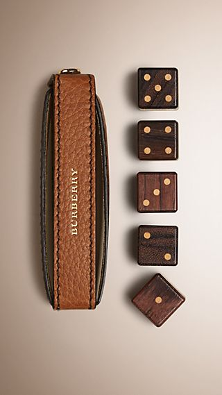 Grainy Leather Dice Set with Case