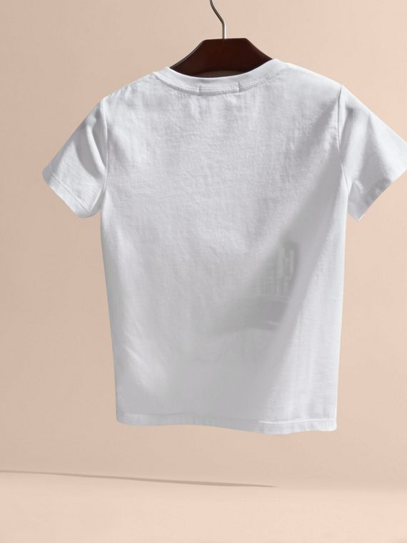 White Big Ben Print Cotton T-shirt - cell image 3