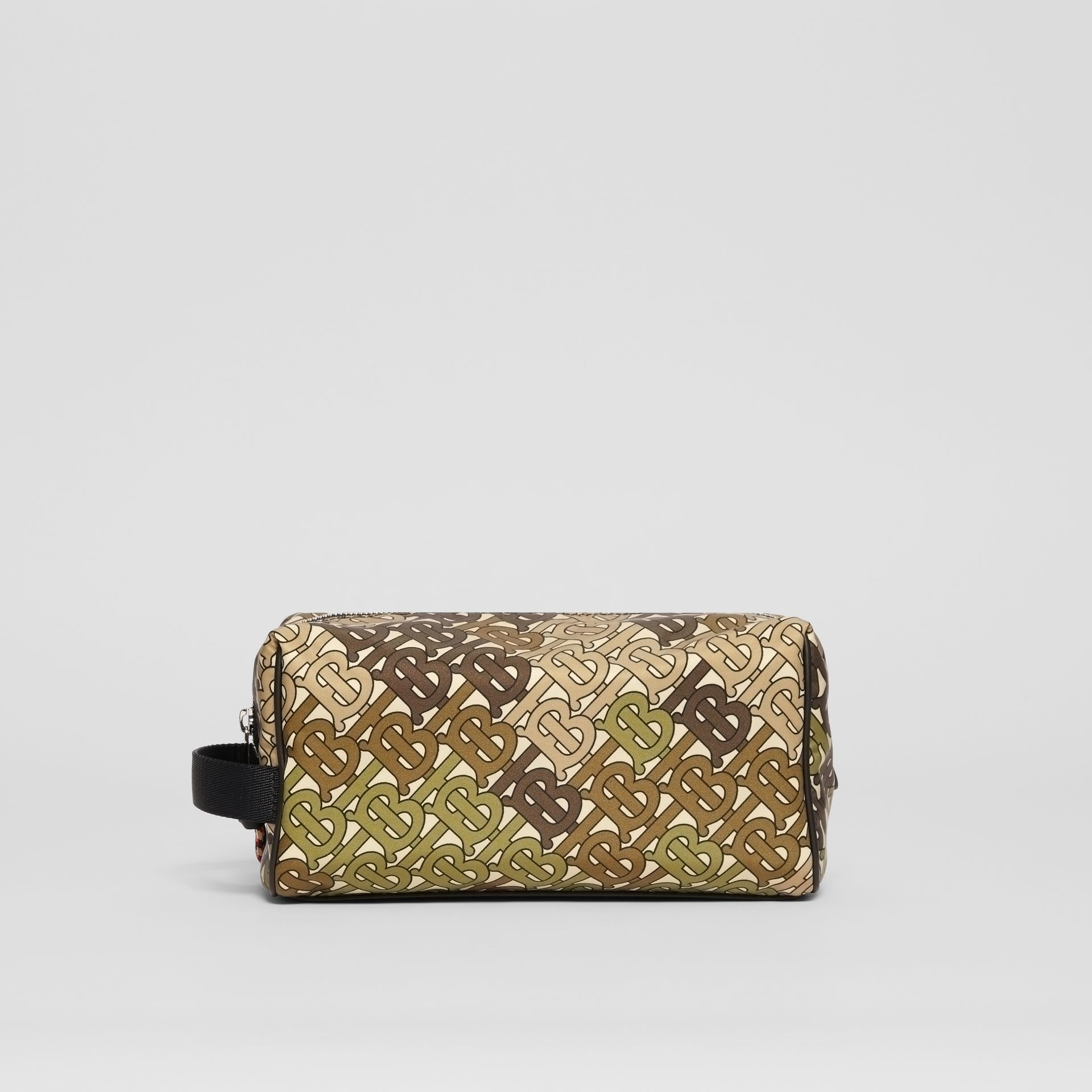 Monogram Print Nylon Pouch in Khaki Green - Men | Burberry - gallery image 3