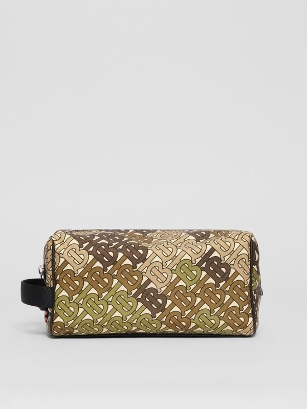 Monogram Print Nylon Pouch in Khaki Green - Men | Burberry Australia - cell image 3