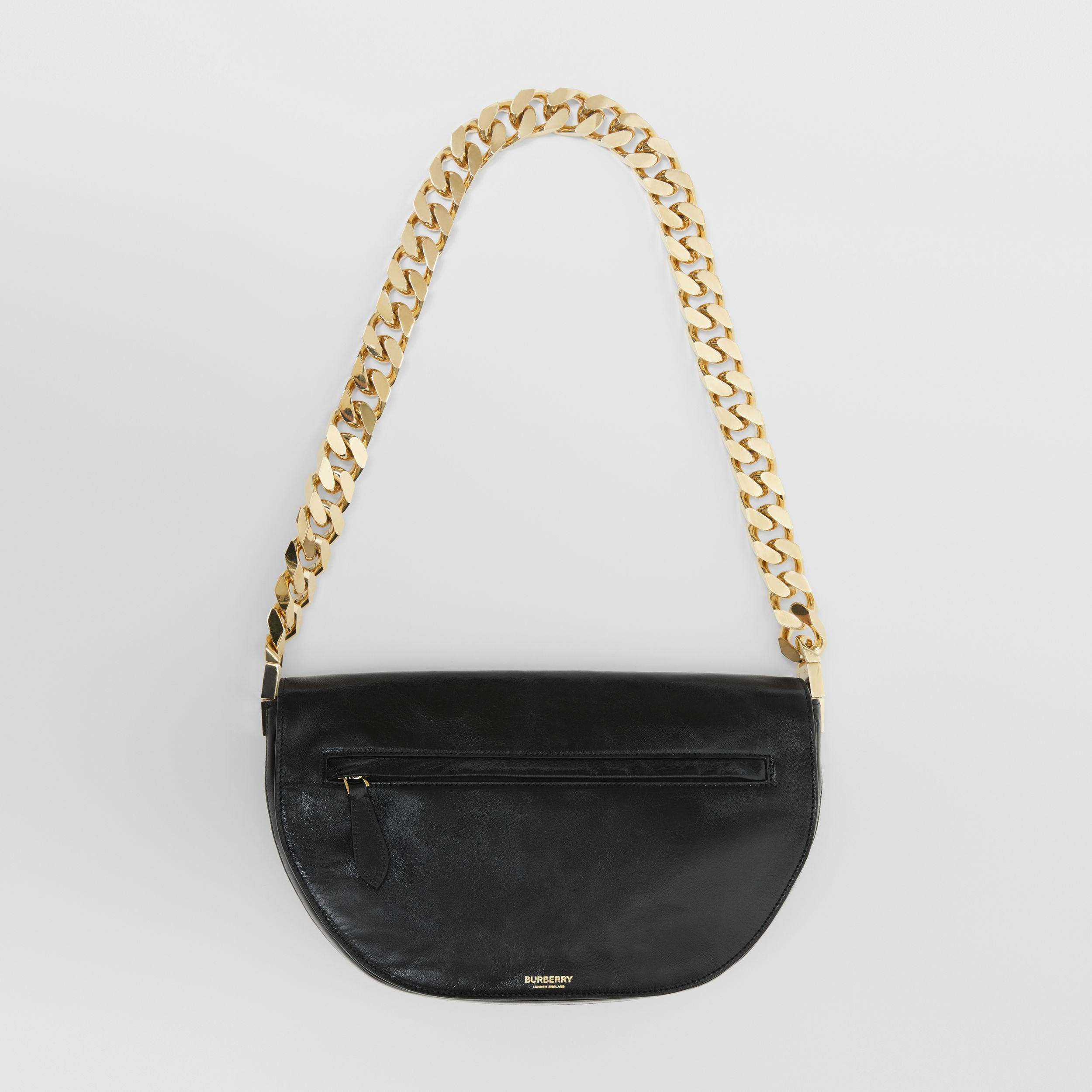 Medium Lambskin Olympia Bag in Black - Women | Burberry - 1