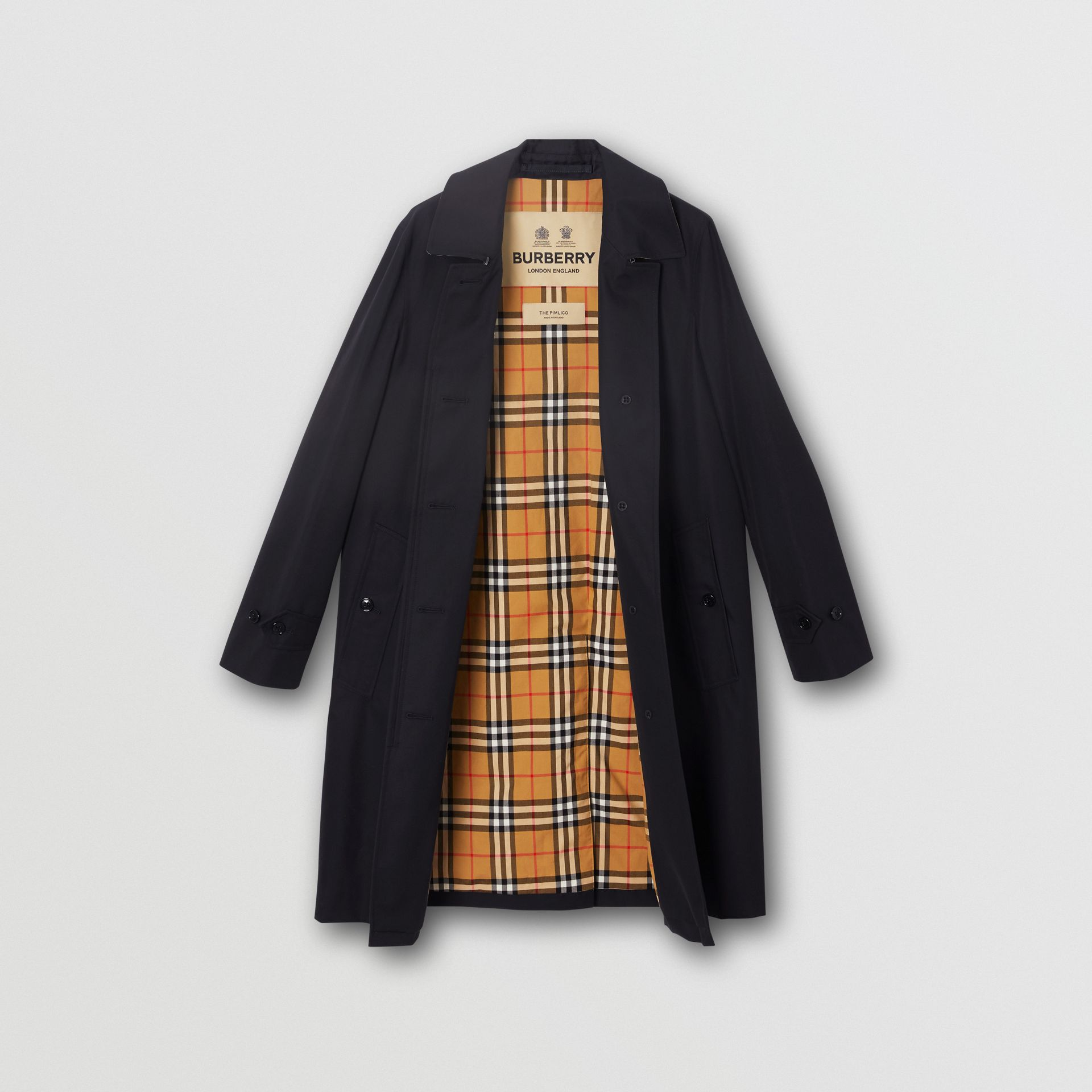 The Pimlico Heritage Car Coat in Midnight - Women | Burberry United Kingdom - gallery image 7