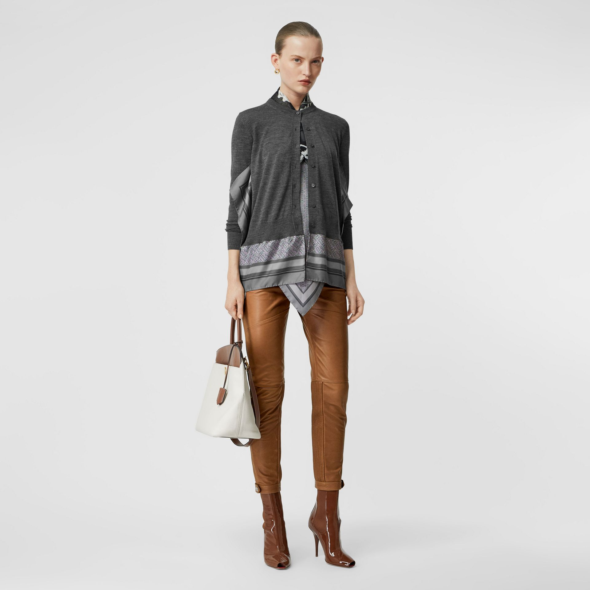 Biker Leather Trousers in Brown - Women | Burberry - gallery image 0
