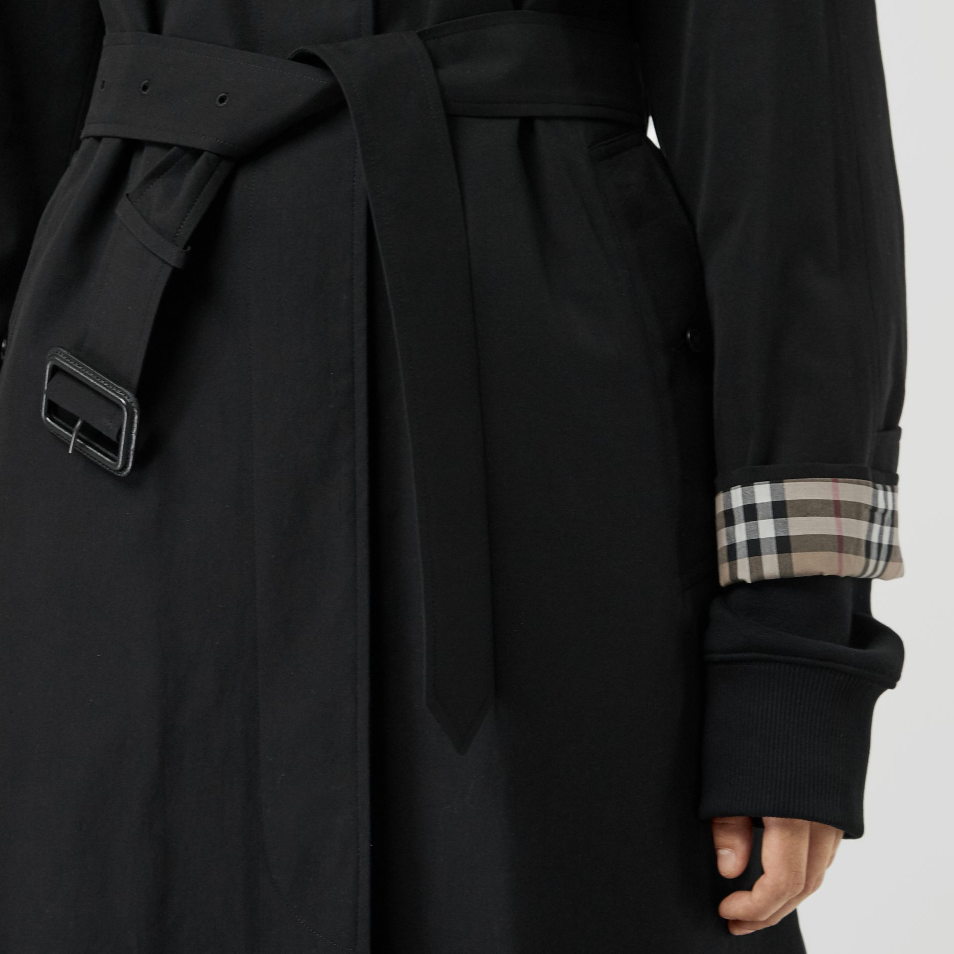 The Brighton Car Coat in Black - Women | Burberry - gallery image 4