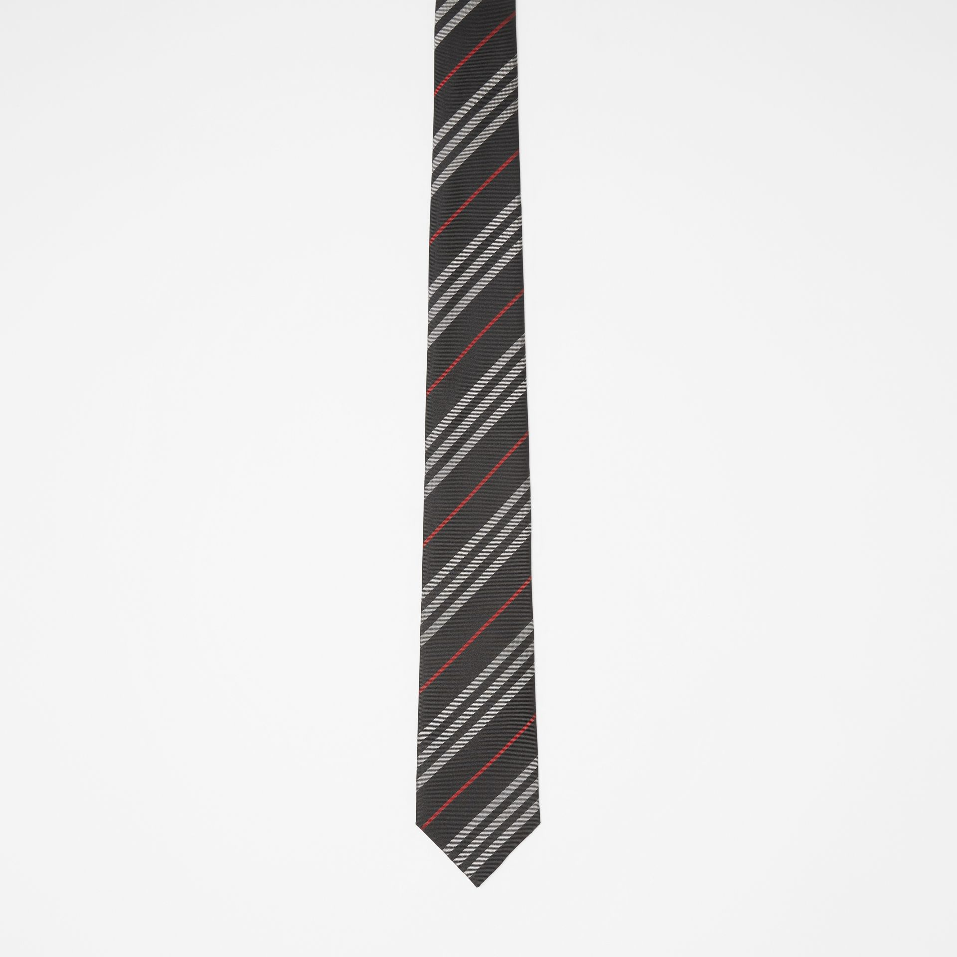 Classic Cut Striped Silk Jacquard Tie in Black - Men | Burberry United States - gallery image 3