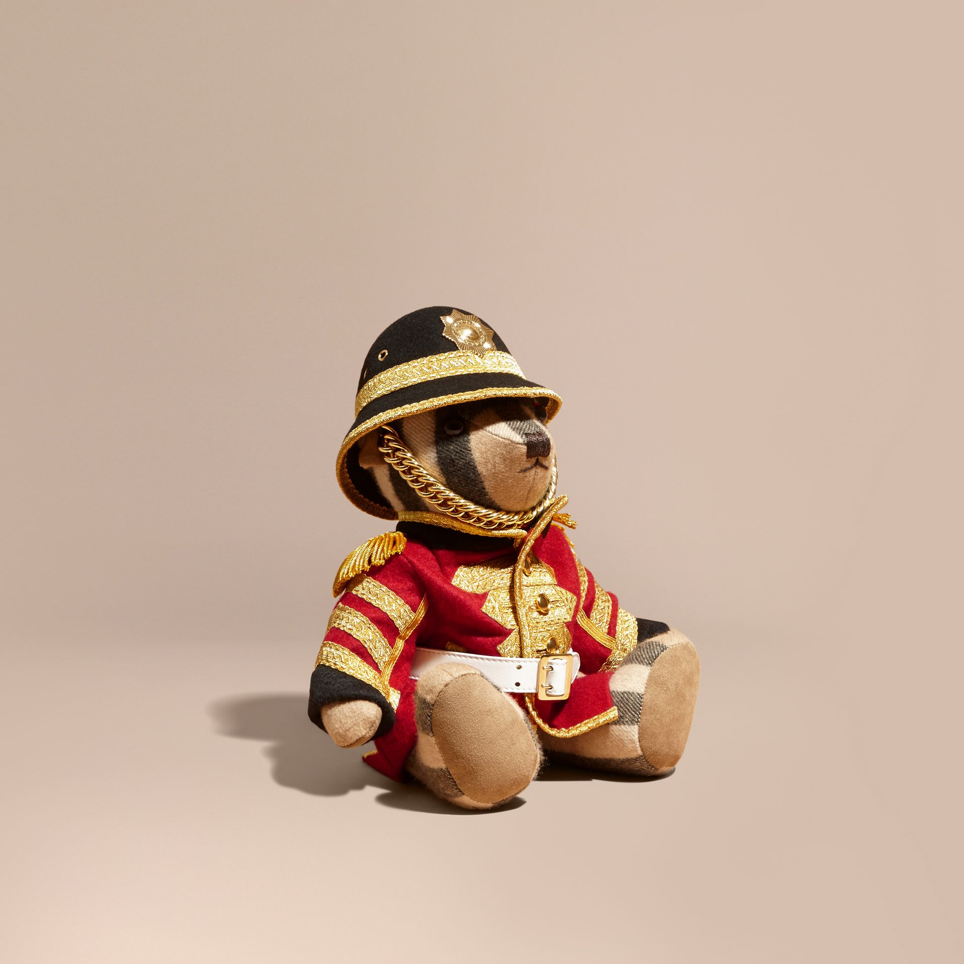 Camel Regimental Thomas Bear in Check Cashmere - gallery image 1