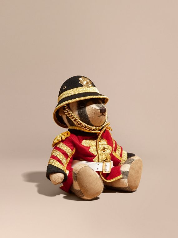 Regimental Thomas Bear in Check Cashmere - Women | Burberry