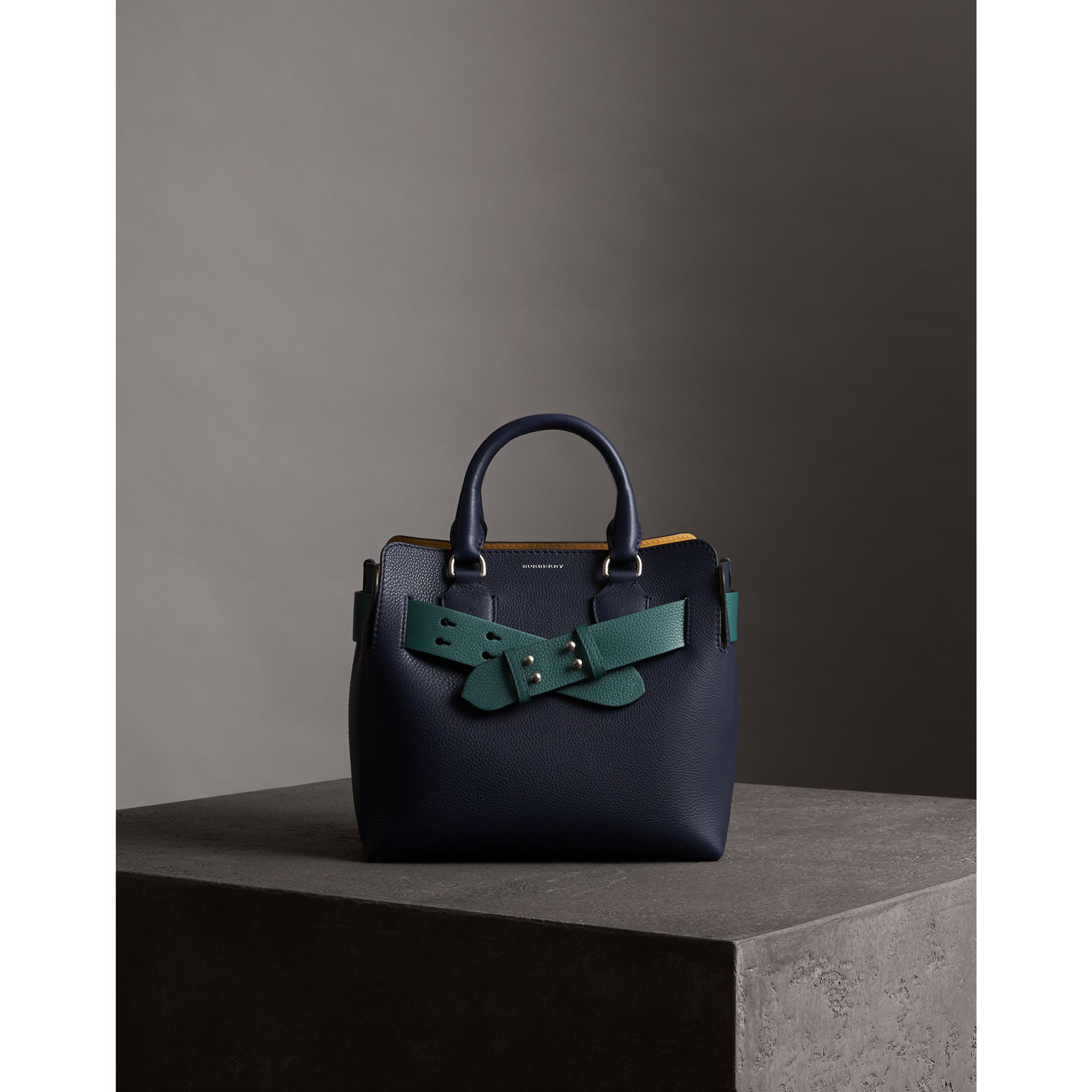 The Small Belt Bag Grainy Leather Belt in Sea Green - Women | Burberry - gallery image 4