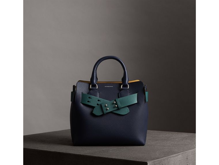 The Small Belt Bag Grainy Leather Belt in Sea Green - Women | Burberry - cell image 4