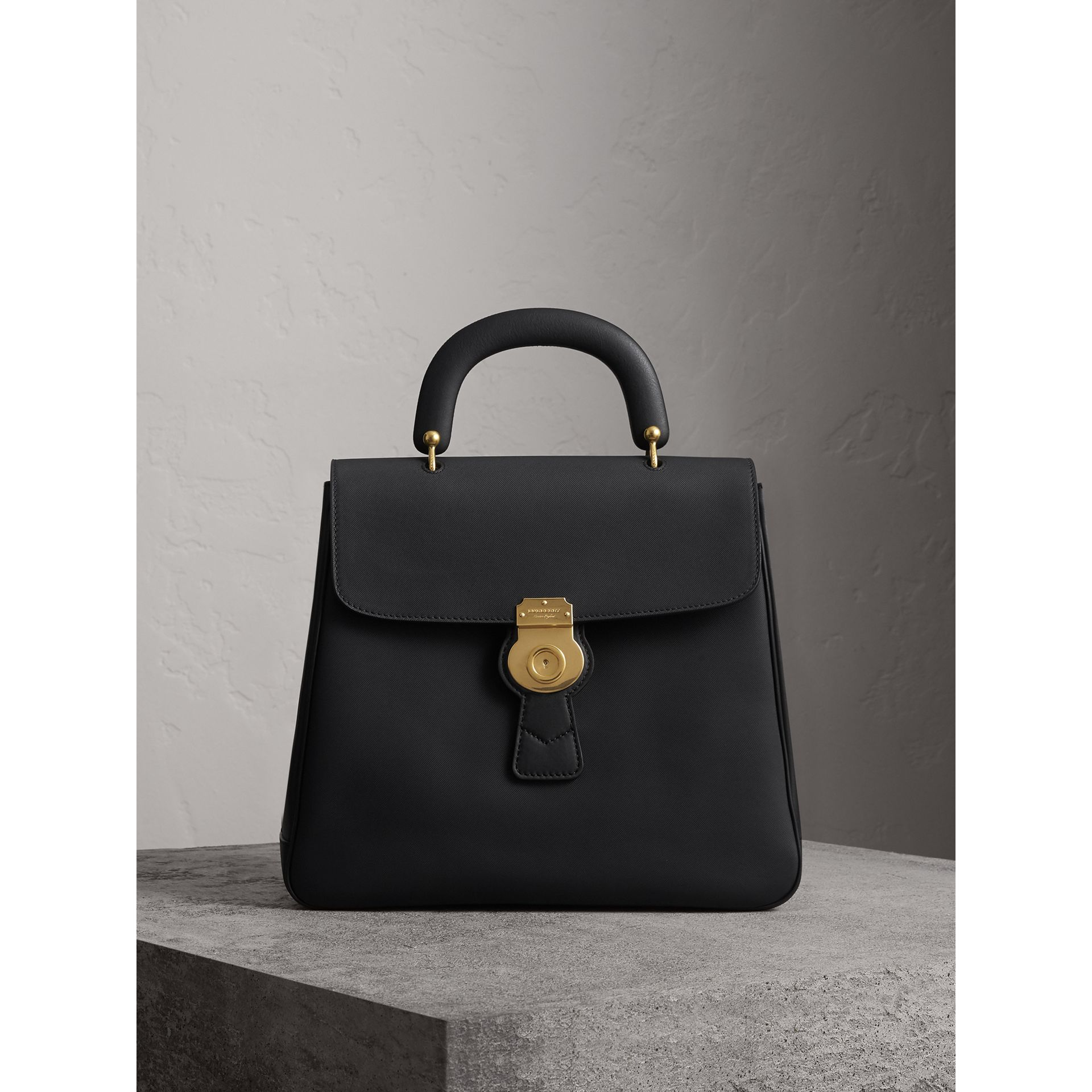 The Large DK88 Top Handle Bag in Black - Women | Burberry - gallery image 1