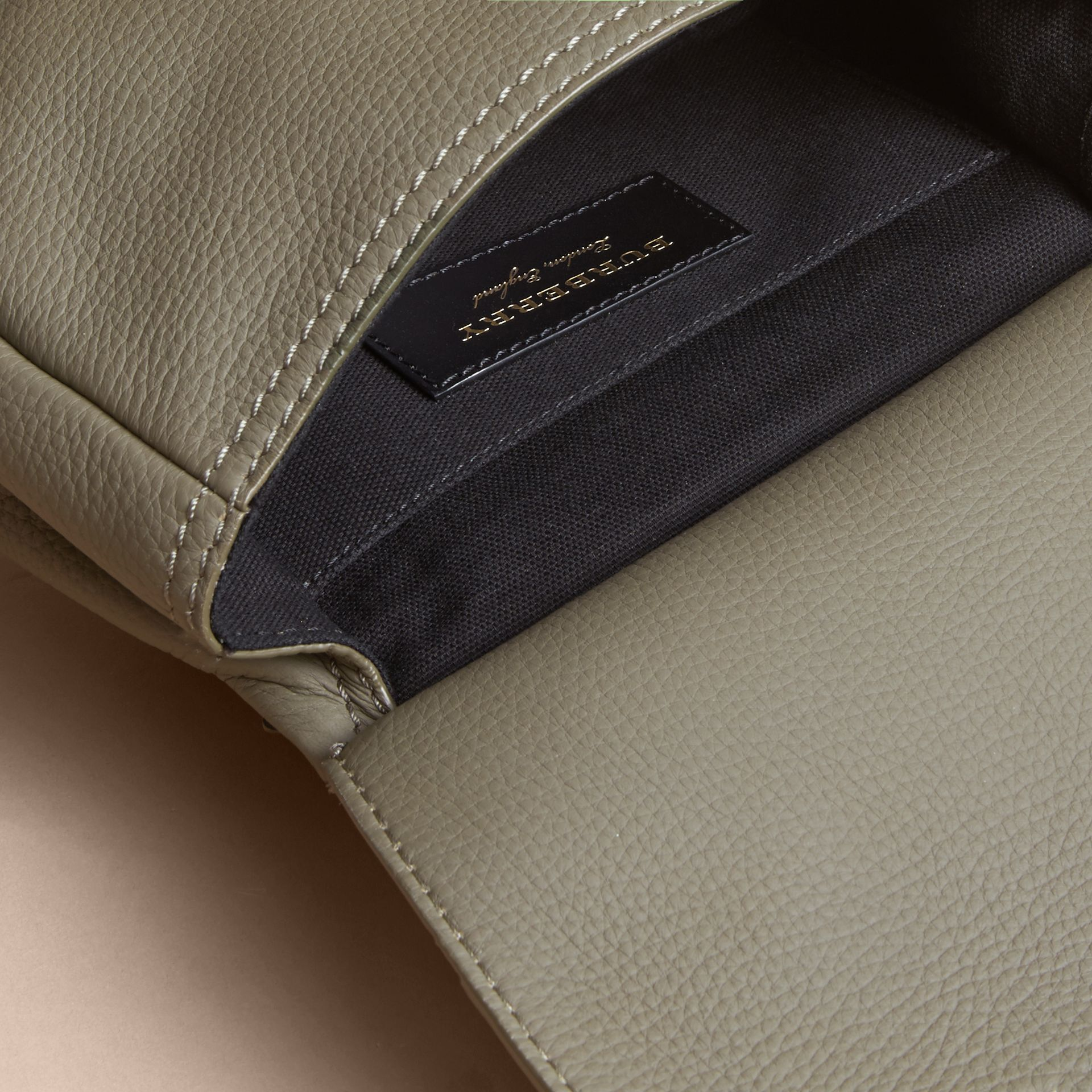 The Bridle Crossbody Bag in Deerskin in Slate Green - Women | Burberry - gallery image 4