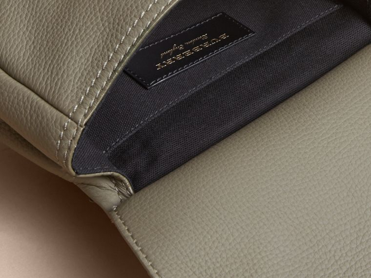 The Bridle Crossbody Bag in Deerskin in Slate Green - Women | Burberry Australia - cell image 4
