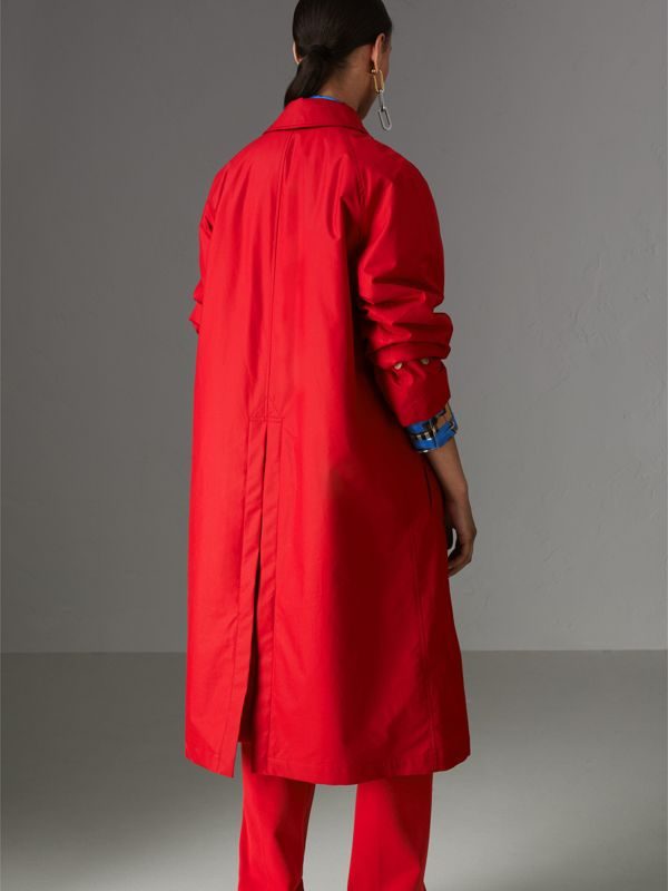 Oversized Cotton Car Coat in Parade Red - Women | Burberry - cell image 2