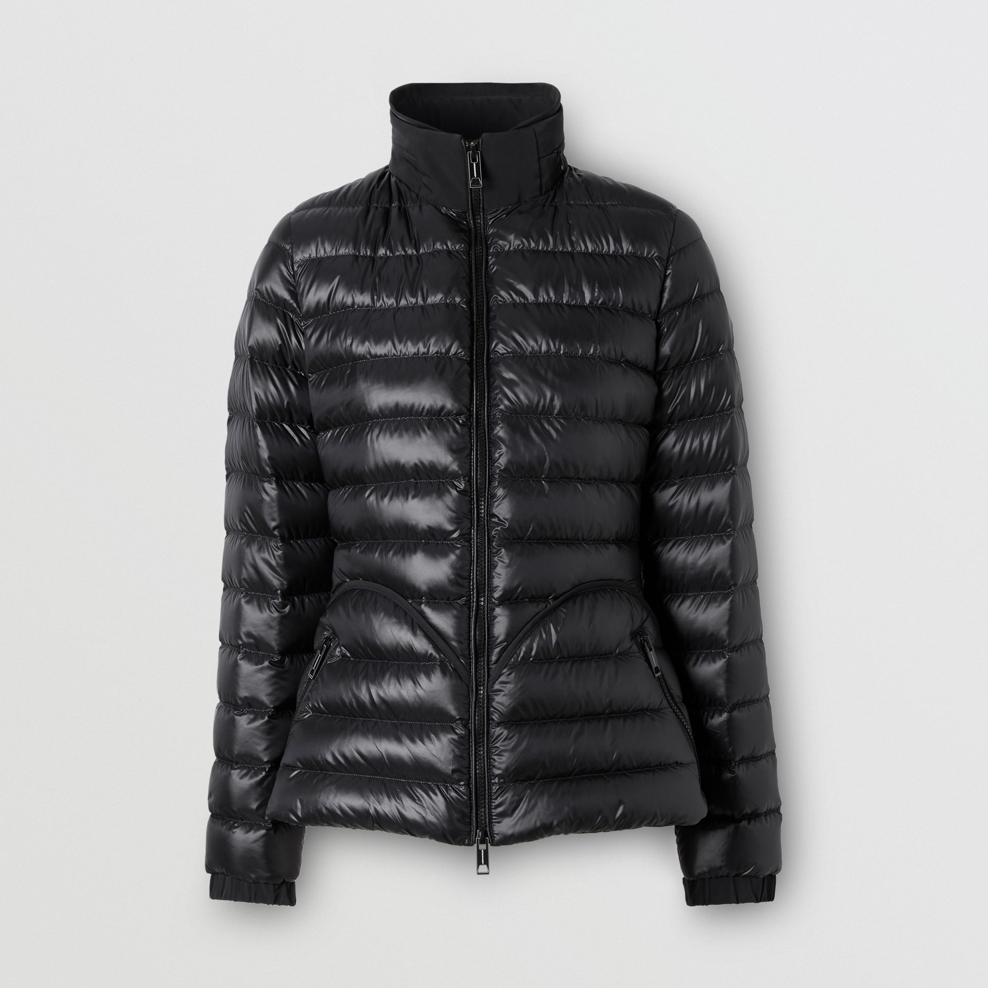 Packaway Hood Peplum Puffer Jacket in Black - Women   Burberry United Kingdom - gallery image 3