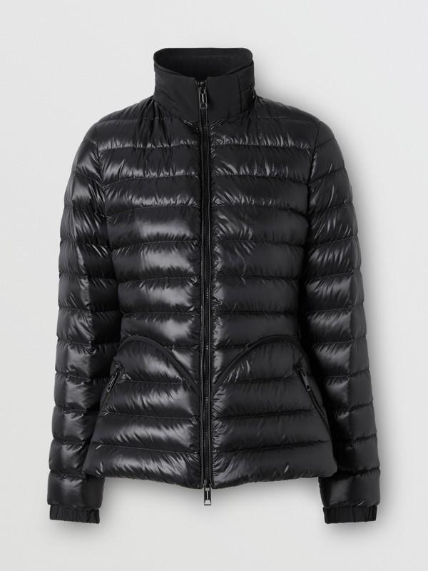 Packaway Hood Peplum Puffer Jacket in Black - Women   Burberry United Kingdom - cell image 3