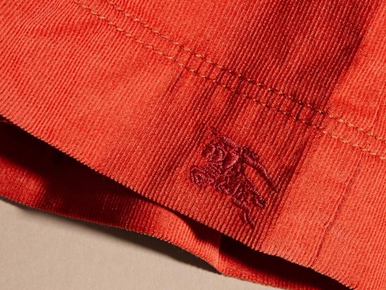 Rosso arancione Abito chemisier in corduroy di cotone Rosso Arancione - cell image 1