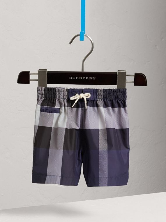 Check Technical Swim Shorts in Ink | Burberry - cell image 2
