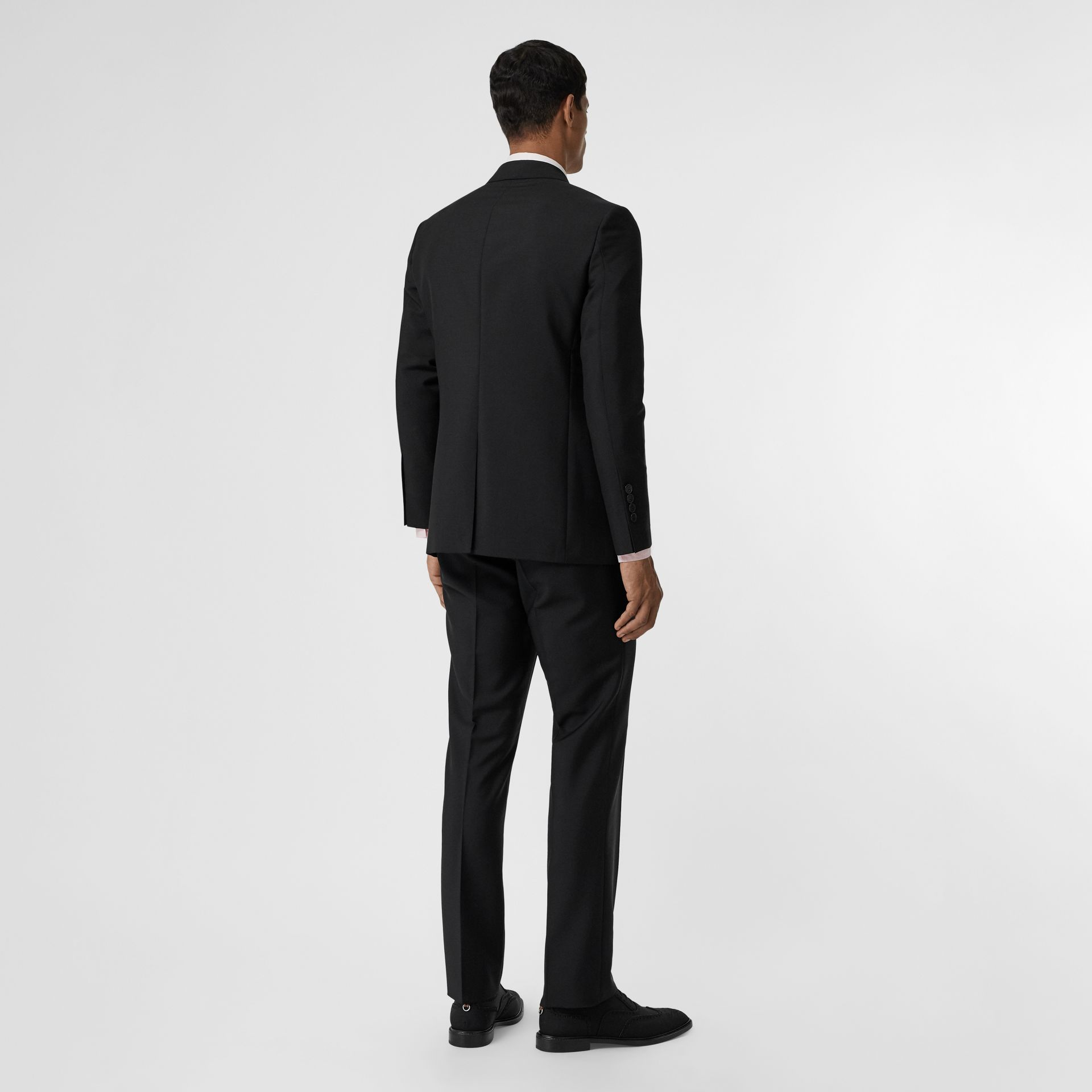 Slim Fit Wool Mohair Suit in Black - Men | Burberry United Kingdom - gallery image 1