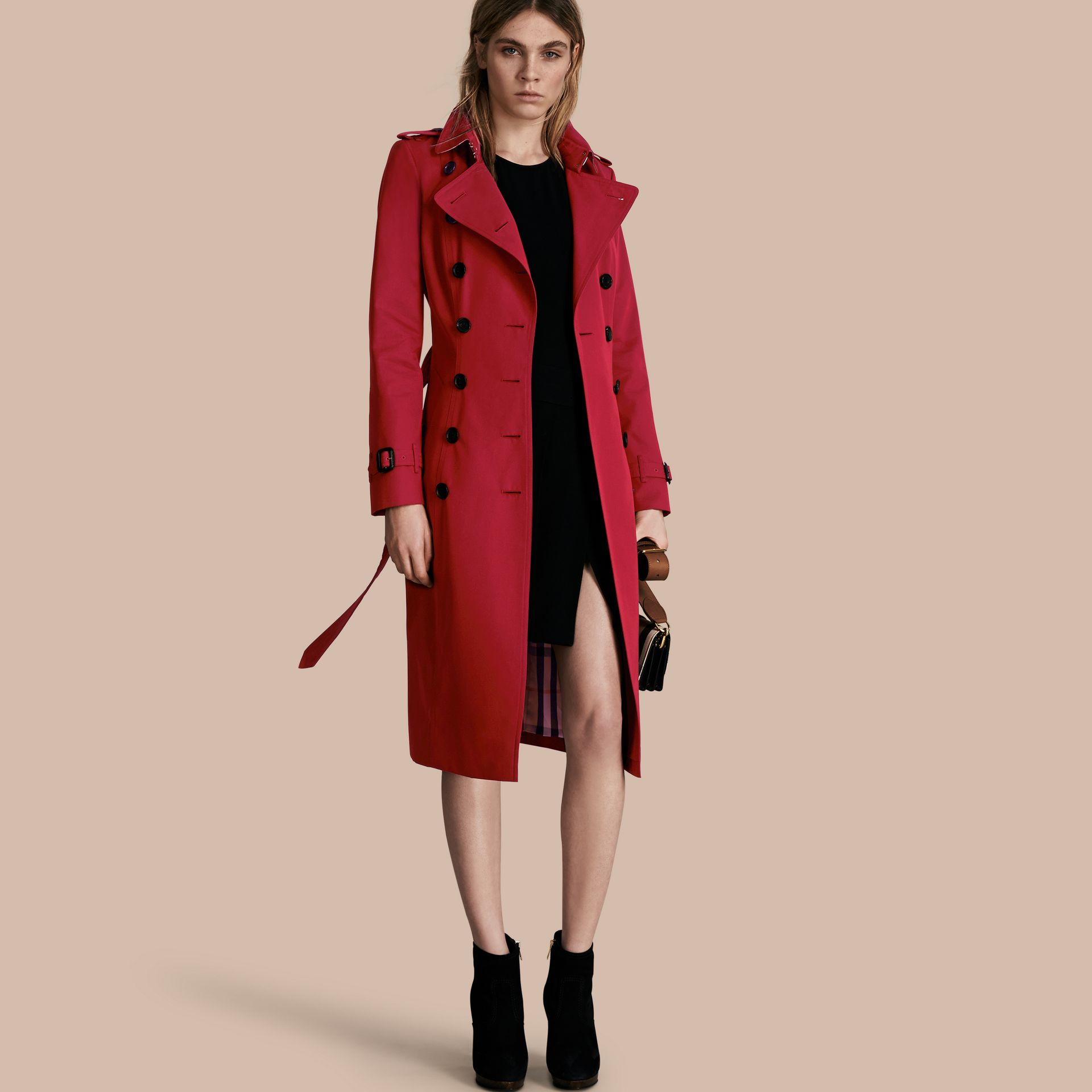Parade red The Chelsea – Extra-long Heritage Trench Coat Parade Red - gallery image 1