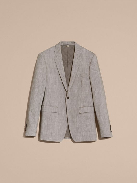 Slim Fit Travel Tailoring Linen Wool Blend Suit - Men | Burberry Singapore - cell image 3