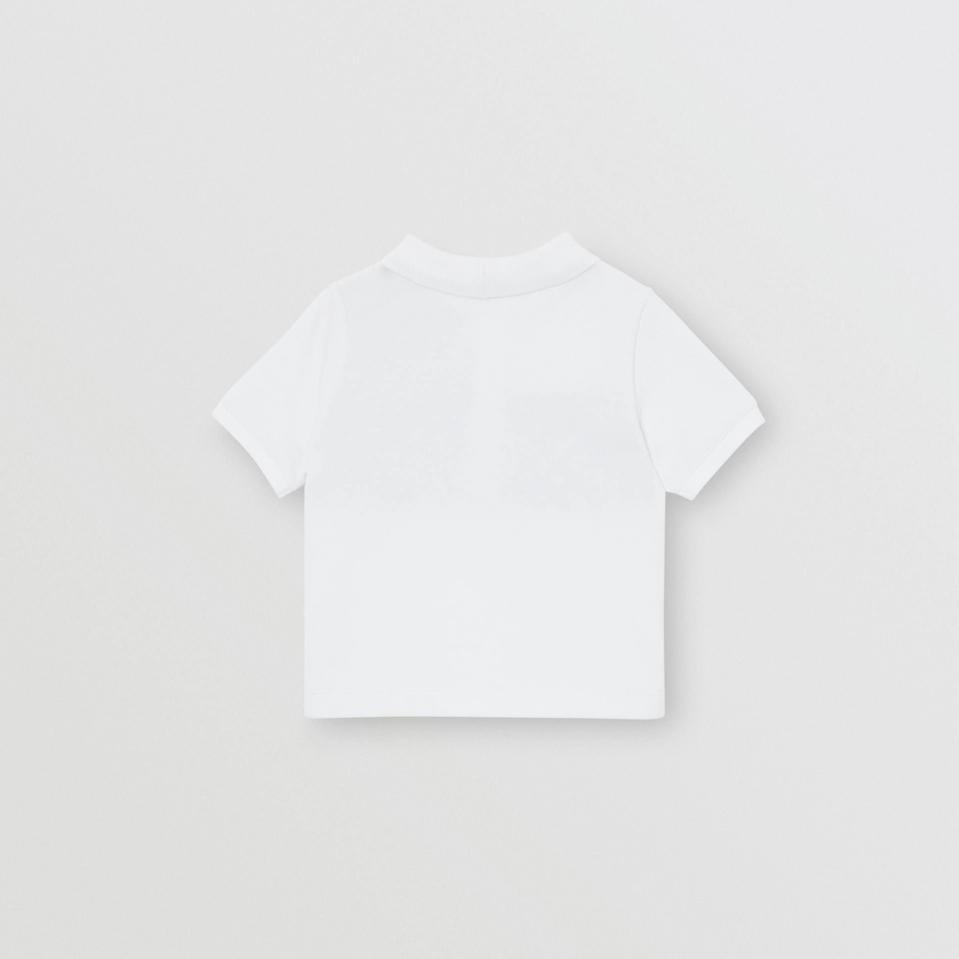Vintage Check Panel Cotton Polo Shirt in White - Children | Burberry Singapore - gallery image 2