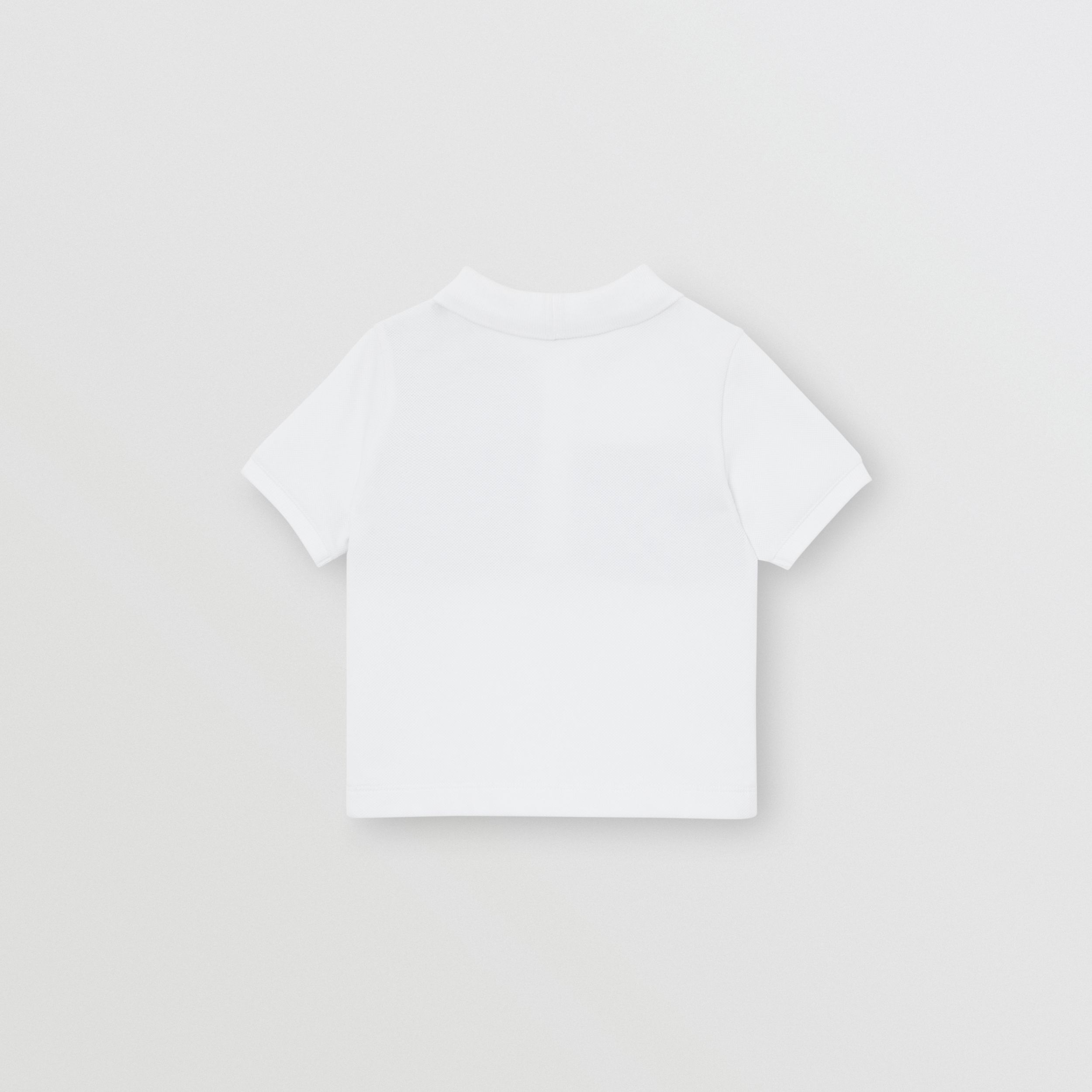 Vintage Check Panel Cotton Polo Shirt in White - Children | Burberry Singapore - 4