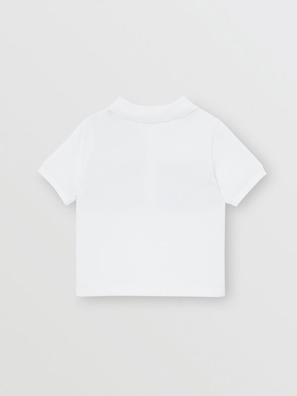 Vintage Check Panel Cotton Polo Shirt in White - Children | Burberry Singapore - cell image 2
