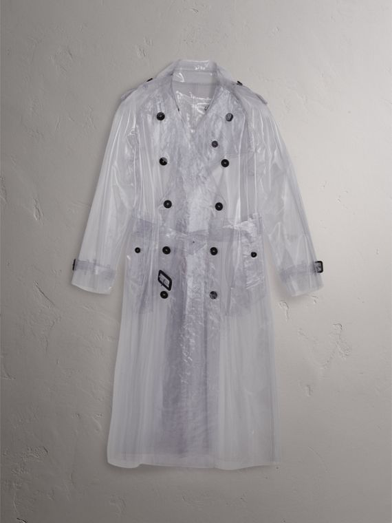 Plastic Trench Coat in Clear - Women | Burberry - cell image 3