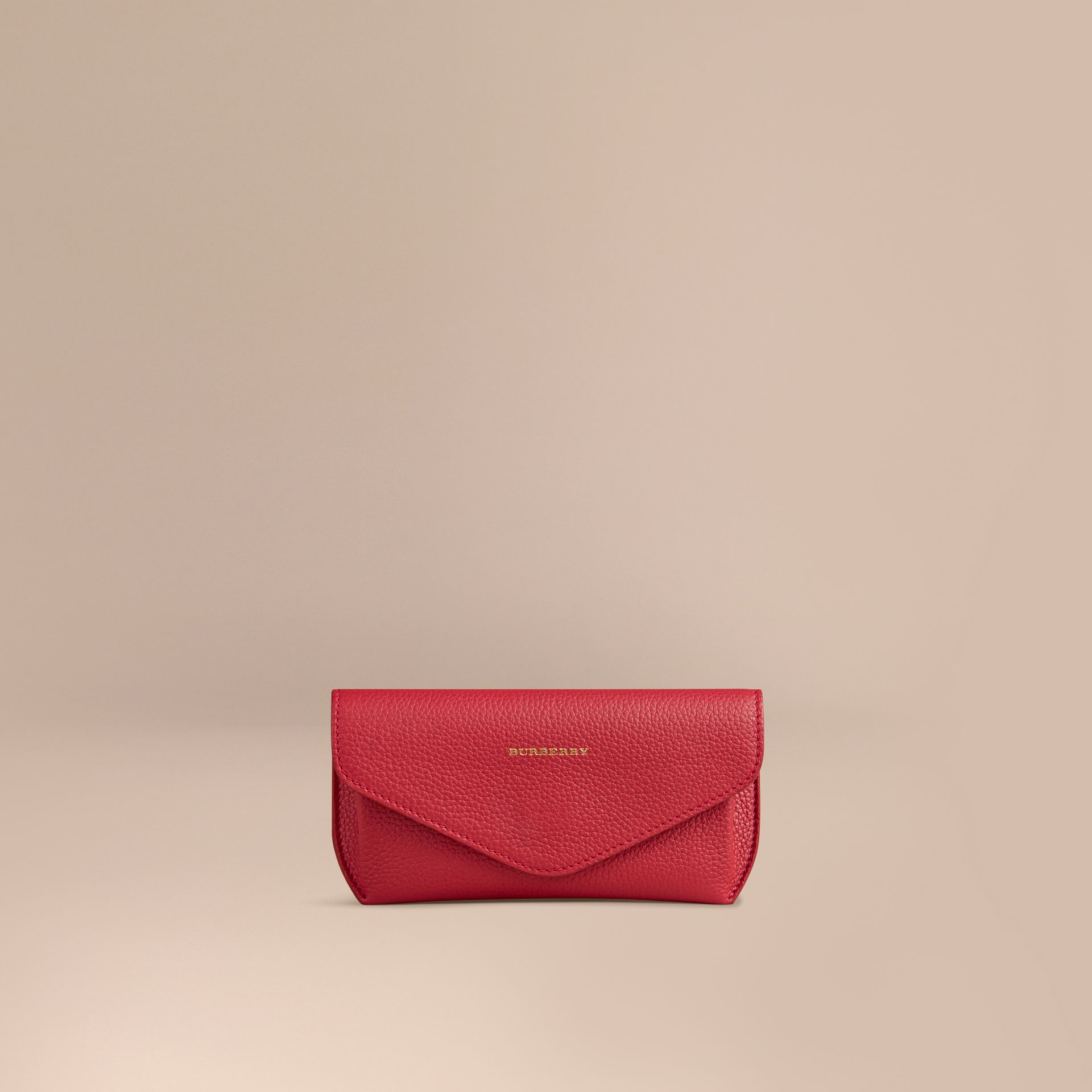 Parade red Grainy Leather Eyewear Case Parade Red - gallery image 1