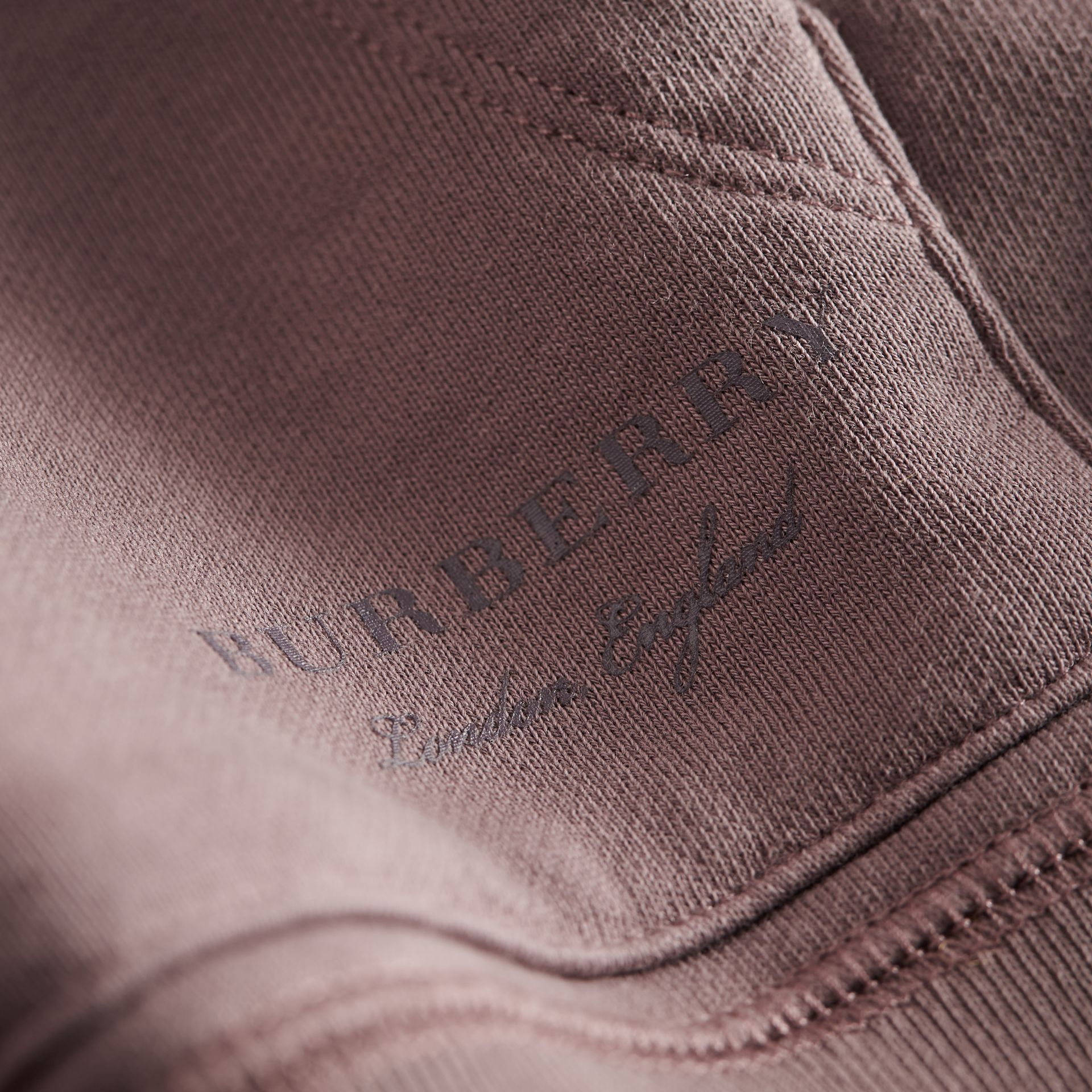 Pigment-dyed Cotton Jersey Sweatshirt in Dusty Mauve | Burberry - gallery image 2