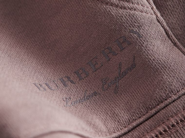Pigment-dyed Cotton Jersey Sweatshirt in Dusty Mauve | Burberry - cell image 1