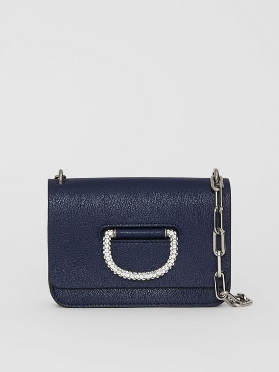 The Mini Leather Crystal D-ring Bag in Regency Blue