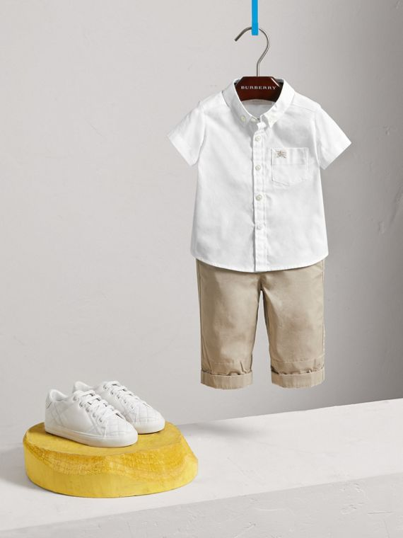 Cotton Oxford Shirt in White - Boy | Burberry - cell image 2