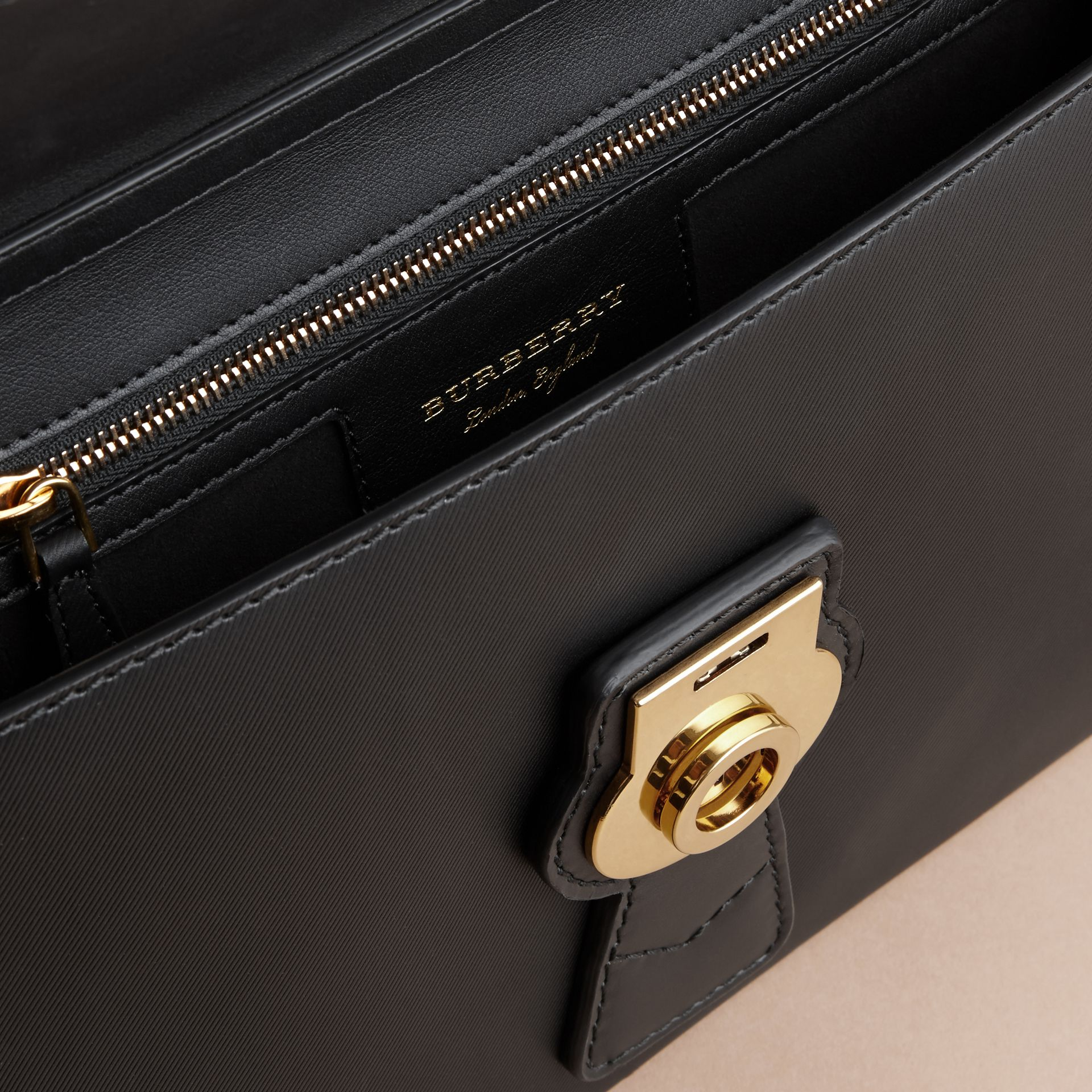 The DK88 Document Case in Black - Men | Burberry - gallery image 4