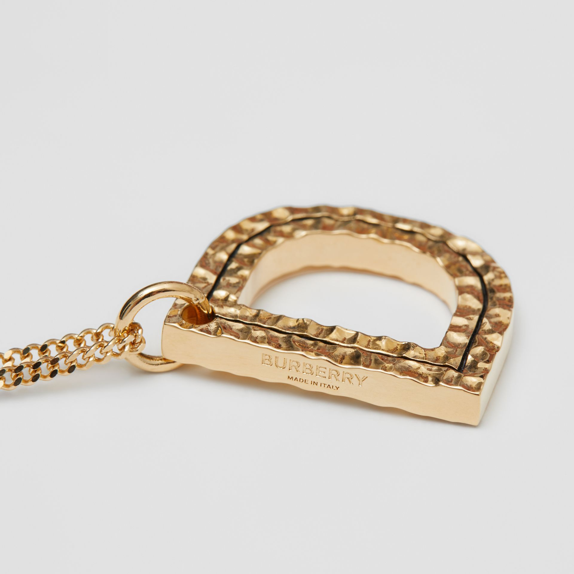'D' Alphabet Charm Gold-plated Necklace in Light - Women | Burberry United Kingdom - gallery image 1