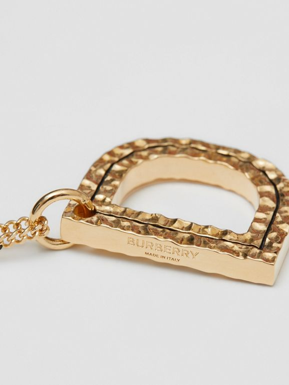 'D' Alphabet Charm Gold-plated Necklace in Light - Women | Burberry United Kingdom - cell image 1