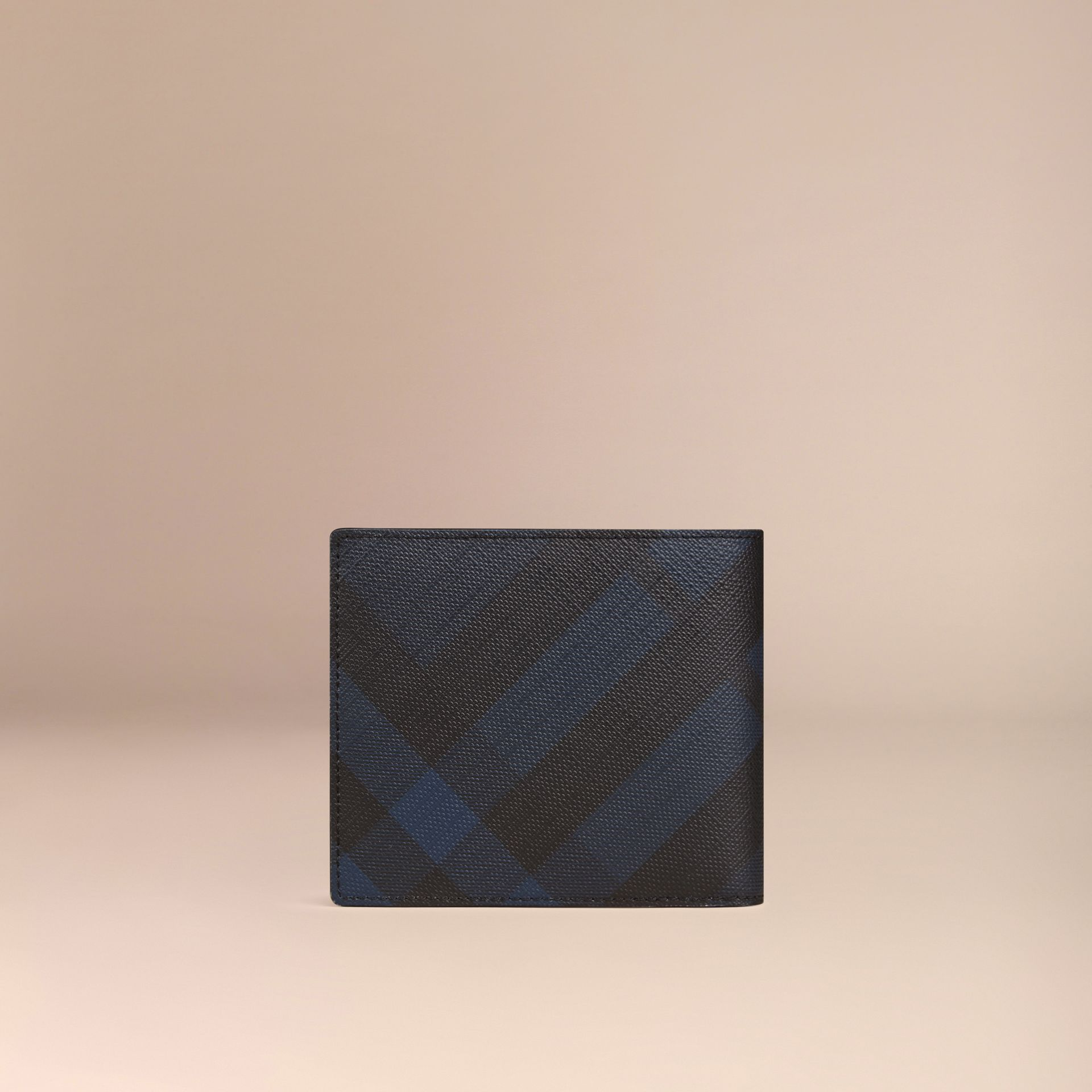 Navy/black London Check Folding Wallet Navy/black - gallery image 3