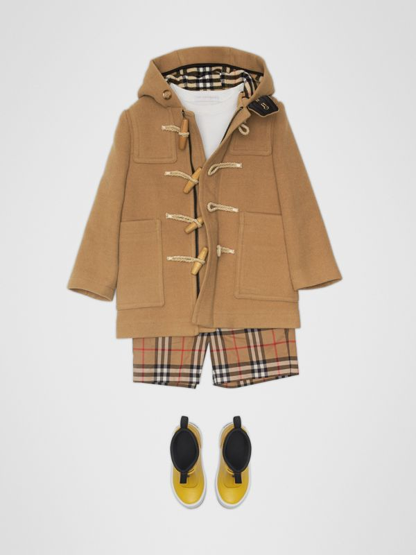 Double-faced Wool Duffle Coat in Antique Yellow | Burberry - cell image 2