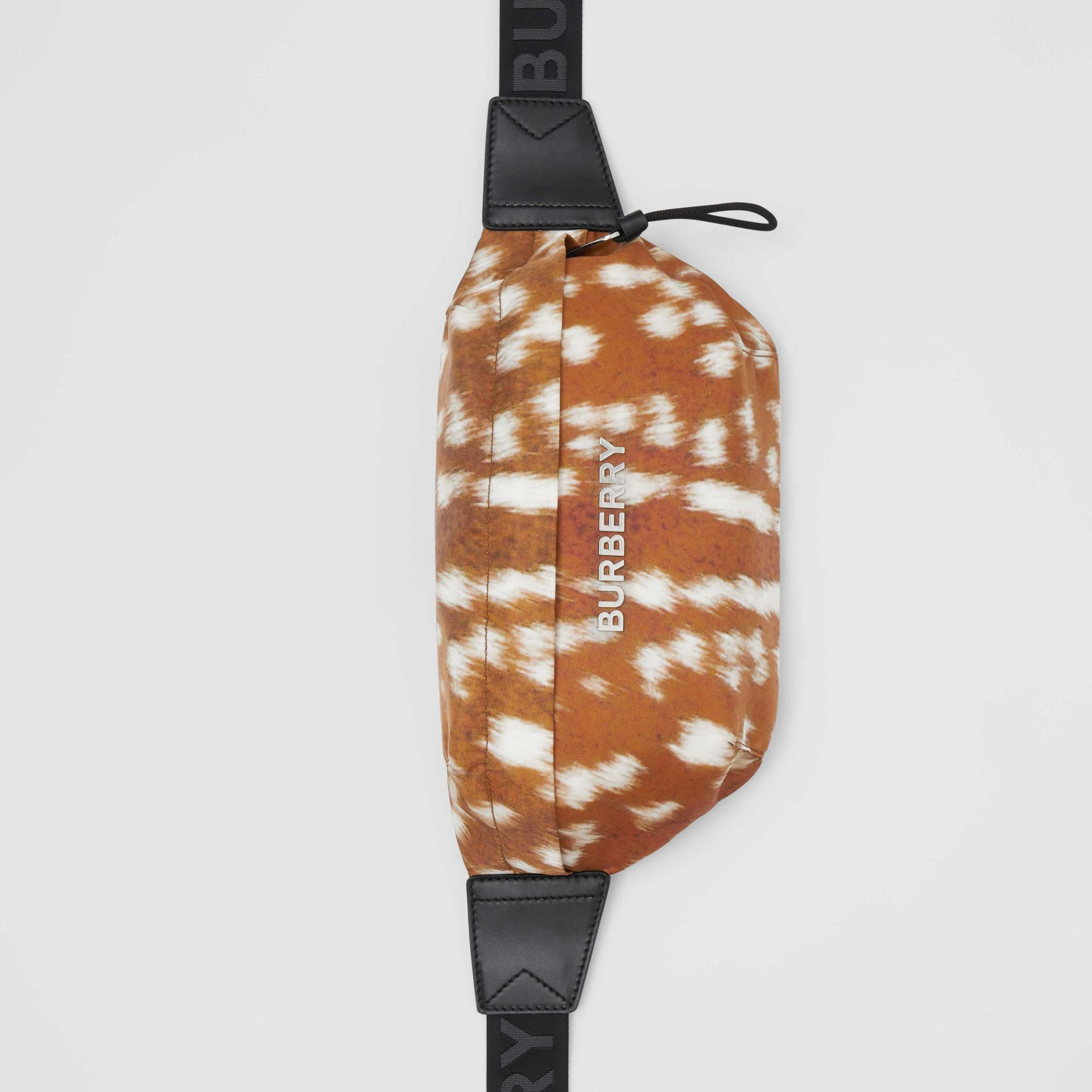 Medium Deer Print Bum Bag in Tan/white - Men | Burberry - gallery image 4
