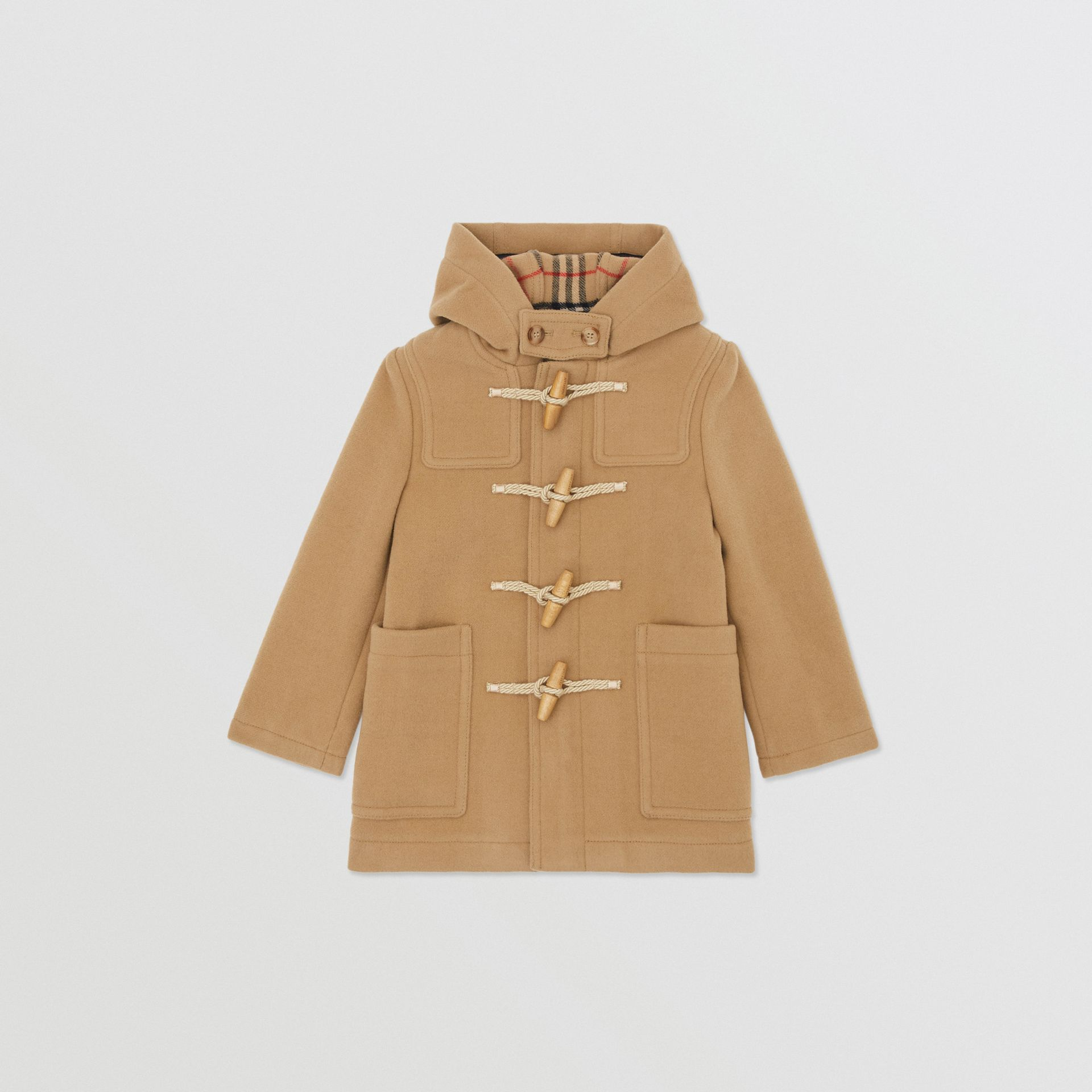 Boiled Wool Duffle Coat in Archive Beige | Burberry Canada - gallery image 0
