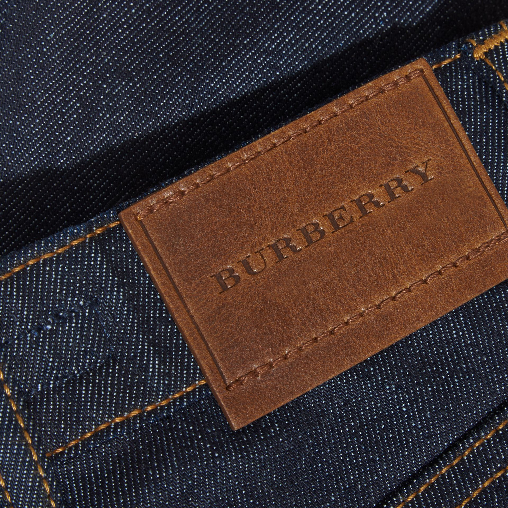 Skinny Fit Indigo Jeans in Dark - Girl | Burberry United Kingdom - gallery image 2